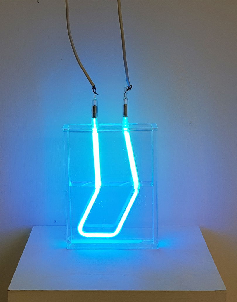 Susie Olczak Refracted Neon Submerged Install 1
